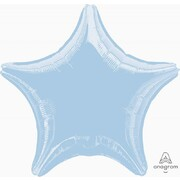 Metallic Pastel Blue Star 19in. Standard Foil Balloon Pk 1