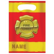 Fire Engine Party Loot Bags - Firefighter Pk8