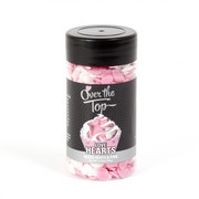 Pink & White Love Hearts Cake Decorating Sprinkles (65g)