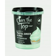 Over The Top Pastel Green Vanilla Buttercream Icing (425g) Pk 1
