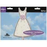 Balloon Foil Supershape Wedding Dress Pk1