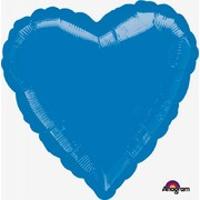 Metallic Royal Blue Heart 17in. Standard Foil Balloon Pk 1