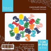 Number Chocolate Mould with Recipe Card Pk1