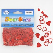 Red Hearts Confetti 14g Pk 1