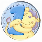 1st Birthday Blue Boy Giant Party Badge Pk 1