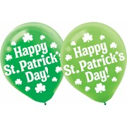 St. Patrick's Day Assorted 30cm Latex Balloons Pk 15
