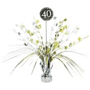 40 Gold, Silver & Black Foil Centrepiece Weight Pk 1