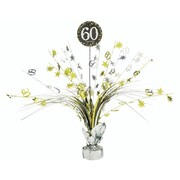 60 Gold, Silver & Black Foil Centrepiece Weight Pk 1