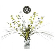 50 Gold, Silver & Black Foil Centrepiece Weight Pk 1