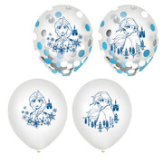 Frozen 2 Clear 12in. Latex Balloons with Confetti (in 3 of the Balloons) Pk 6