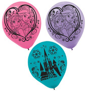 Frozen Latex Balloons (30cm) Pk 6