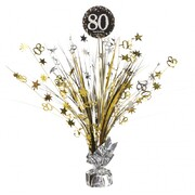 80 Gold, Silver & Black Foil Centrepiece Weight Pk 1