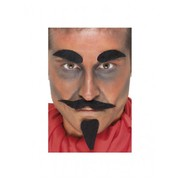 Devil Black Facial Hair Set (Brows, Beard & Moustache) Pk 1