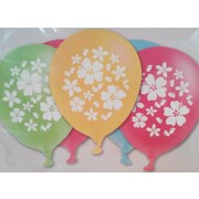 Hawaiian Hibiscus Assorted Latex Balloons (30cm) Pk 15