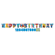 Super Mario Bros Customisable Giant Birthday Banner (3m) Pk 1