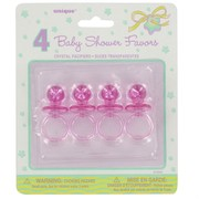 Baby Shower Favours - Pink Dummy Pk4