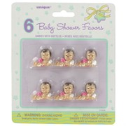 Baby Shower Favours - Babies with Pink Bottles Pk6