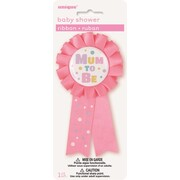 Pink Mum To Be Award Ribbon Pk 1