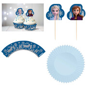 Frozen 2 Cupcake Kit with Cases, Picks & Glitter Wraps Pk 24