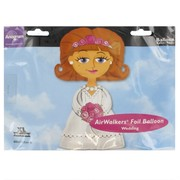 Balloon Foil Airwalker Bride Pk1