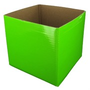 Mini Box 13cm x 12cm Lime Green Pk1