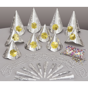 New Year Party Kit for 10 (Silver) Pk 1