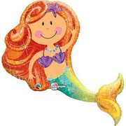 Merry Mermaid Foil Supershape Balloon (38in.) Pk 1