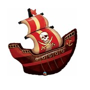 Pirate Ship 40in. Foil Supershape Balloon Pk 1