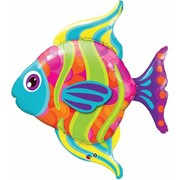 Multi Coloured Fish Foil Supershape Balloon (43in.) Pk 1