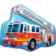 Red Fire Engine Truck 36in. Foil Supershape Balloon Pk 1