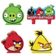 Angry Birds Cake Candles Pk 4 (Assorted Designs)