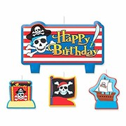 Pirate Treasure Moulded Candle Set Pk 4