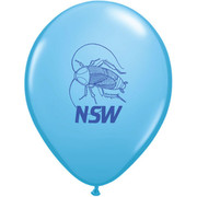 NSW Cockroach Pale Blue Latex Balloons Pk 50