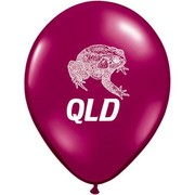 QLD Cane Toad Maroon/Burgundy Latex Balloons Pk 50