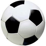 Assorted Size Soccer Ball Cutout Decorations Pk 12