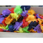 Multicoloured Flower Leis 40in Pk 25