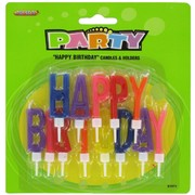 Candles Happy Birthday Letter Set Pk1