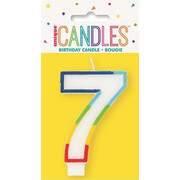 Number 7 Rainbow Birthday Cake Candle Pk 1