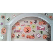 Assorted Design & Size Halloween Character Cutout Decorations Pk 30