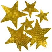 Party Decoration - Gold Laser Stars (Assorted Sizes) Pk9