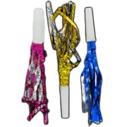 Laser Party Whistle Frills Pk 6 (Assorted Colours)