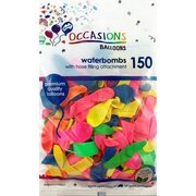 Balloons Waterbombs Pk150 (Assorted Colours)