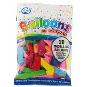 Balloons Modelling Pk20 (Assorted Colours)