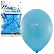 Balloons Standard 25cm Light Blue Pk15