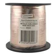 Metallic Rose Gold Curling Ribbon 225m Pk1
