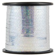Holographic Metallic Silver Curling Ribbon (225m) Pk 1