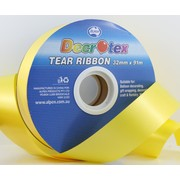 Yellow Tear Ribbon (32mm x 91m) Pk 1