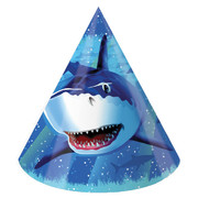 Shark Splash Party Hats Pk 8