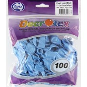 Pearl Light Blue 5in (12cm) Latex Balloons Pk 100