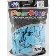 Pearl Azure Blue Latex Balloons (12in - 30cm) Pk 100